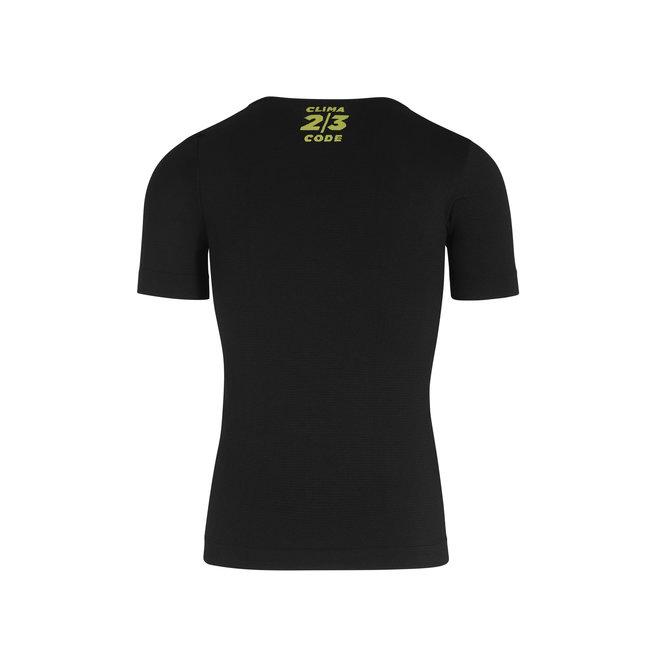 Assos Spring Fall SS Skin Layer Ondershirt Zwart (Heren)