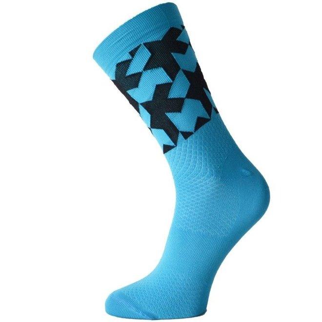 Monogram Socks evo sokken Blauw
