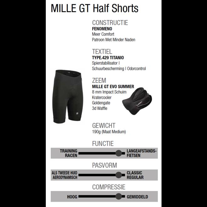 Assos Mille GT Half Shorts Broek Zwart