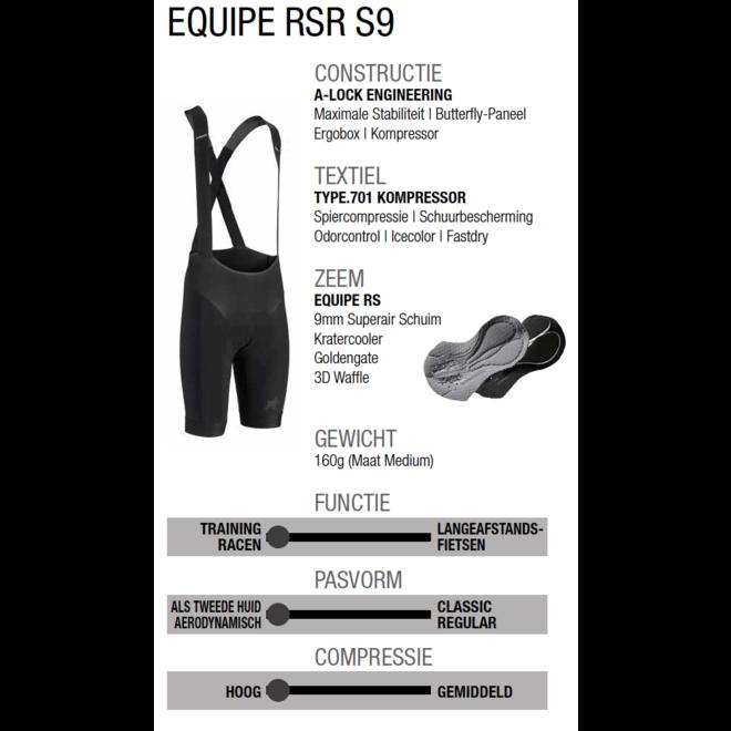 Assos Equipe RSR Shorts S9 Zwart