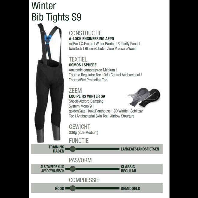 Assos Equipe RS  Winter Bib Tights Winterbroek Zwart