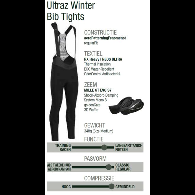 Assos MILLE GT Ultraz Winter Tights Heren Zwart