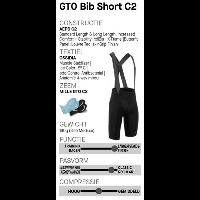Assos Mille GT Bib Shorts GTO C2 LONG Broek Zwart