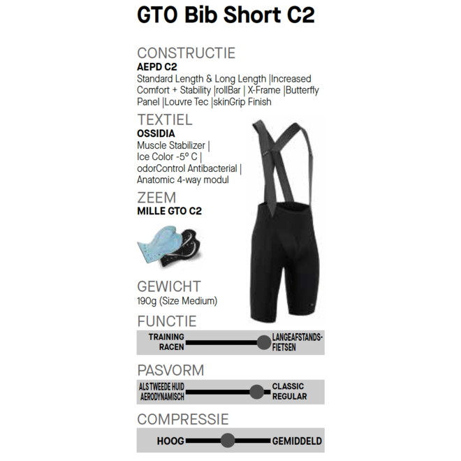 Assos Mille GT Bib Shorts GTO C2 LONG Broek Zwart/Goud