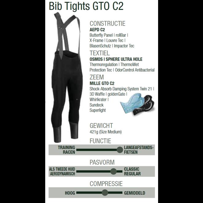 Assos Mille GT Winter Bib Tights GTO C2 Winterbroek Zwart/Goud