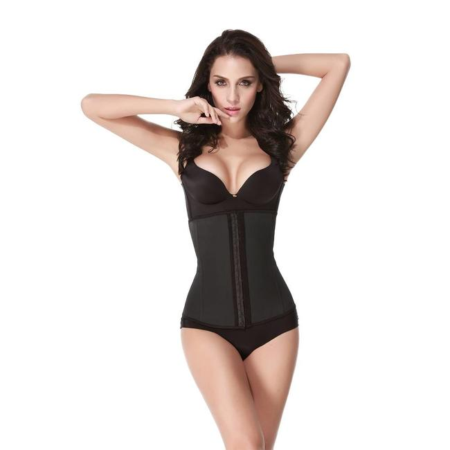 Latex waist trainer - zwart