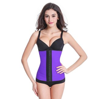 Latex waist trainer - paars