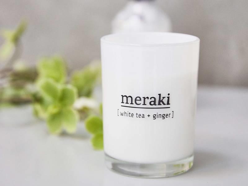 Meraki Scented Candle White Tea & Ginger