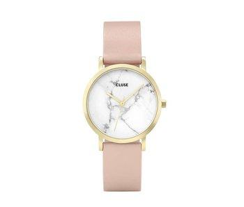 Cluse La Roche Petite Gold White Marble Nude Horloge