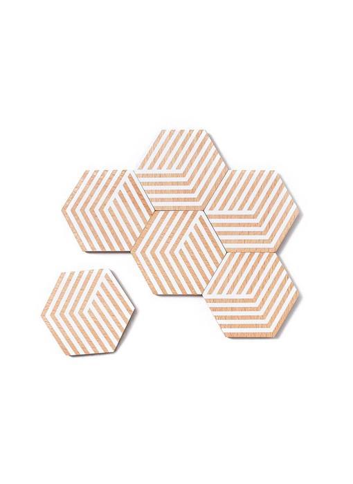 Areaware Table Tiles Optic White 6 pcs.