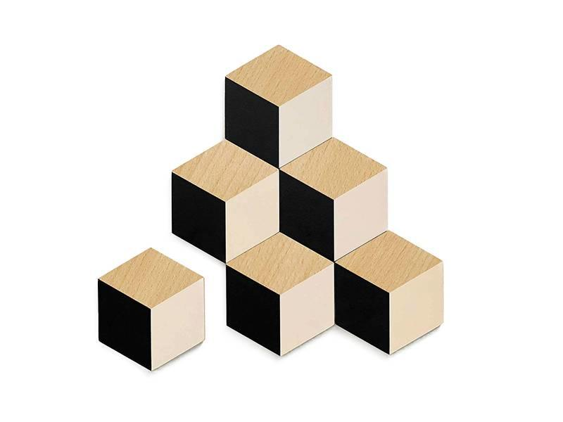 Areaware Table Tiles Black/Beige 6 pcs.