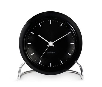 Arne Jacobsen City Hall Alarm Clock Black