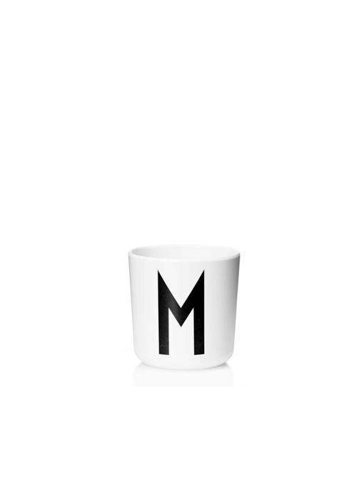 """Design Letters Melamin Cup AJ """"M"""""""