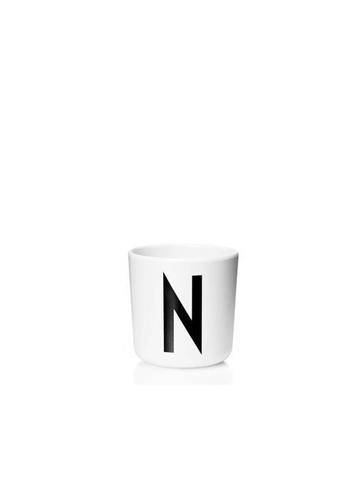 "Design Letters Melamin Cup AJ ""N"""