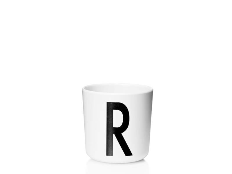 """Design Letters Melamin Cup AJ """"R"""""""