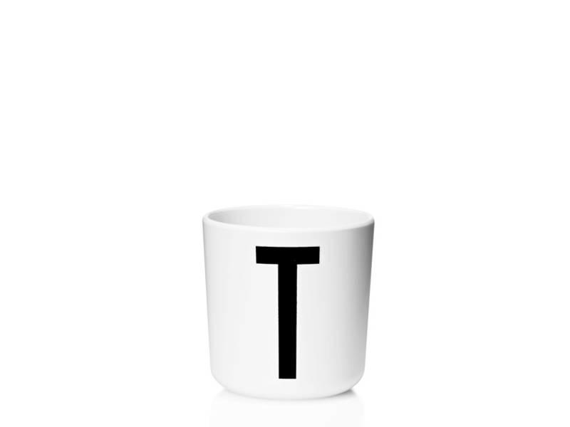"""Design Letters Melamin Cup AJ """"T"""""""