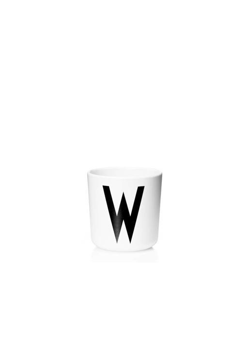 """Design Letters Melamin Cup AJ """"W"""""""