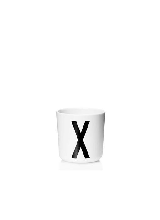 """Design Letters Melamin Cup AJ """"X"""""""