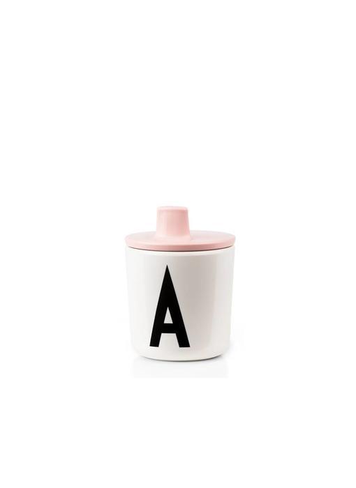 Design Letters Drink Lid Pink