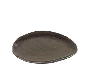 Serax Pure Ovaal Bord Grijs 20 cm