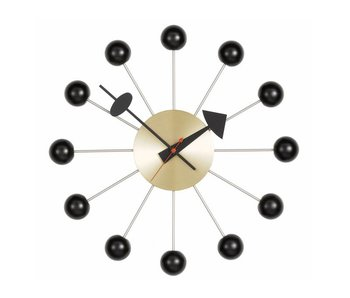 Vitra Ball Clock Black/Messing