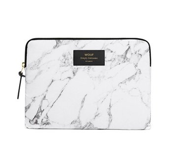 Wouf White Marble iPad Sleeve
