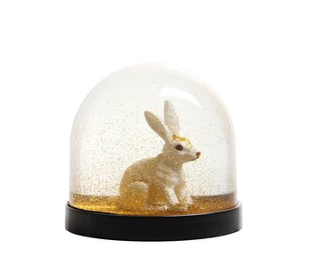 &Klevering Wonderball Rabit Gold Glitter