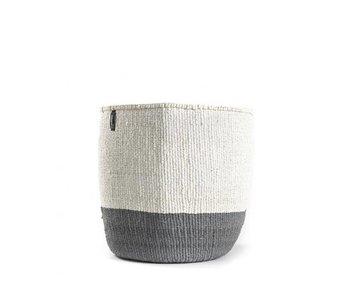 Mifuko Kiondo Basket XS Grey/White
