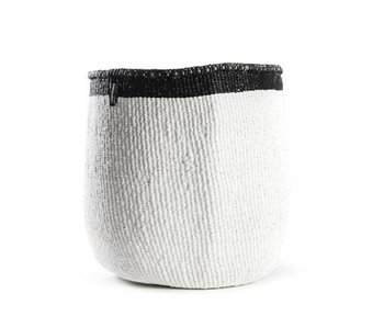 Mifuko Kiondo Basket M Black/White Top Stripe