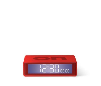 Lexon Flip Travel Alarm Clock Red