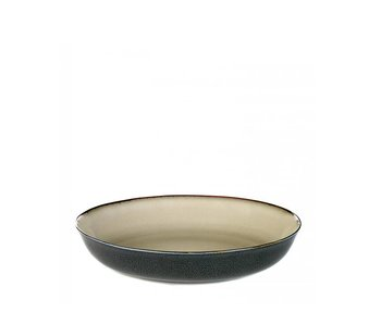Serax TDR Schaal Misty Grey/Dark Blue 21 cm