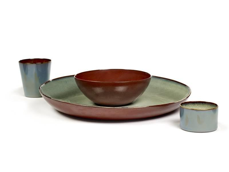Serax TDR Schaal Misty Grey/Rust 35,5 cm