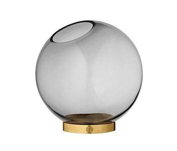 AYTM Globe Vase w. Stand Large Black