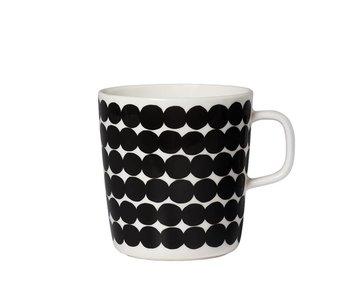 Marimekko IGC Oiva Räsymatto Cup White/Black 4 dl