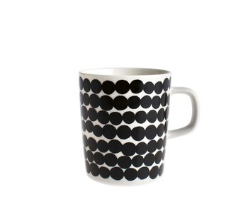 Marimekko IGC Oiva Siirtolapuutarha Mug White/Black 2,5 dl
