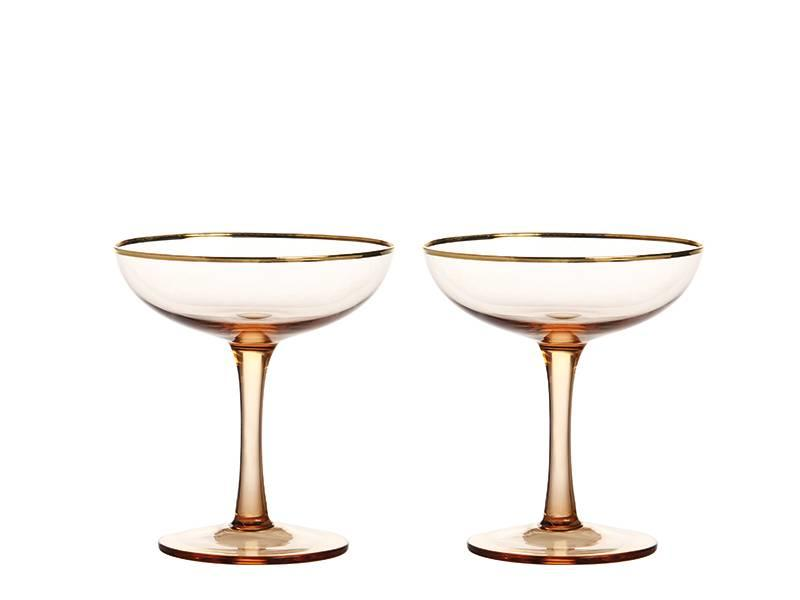 &Klevering Champagne Coupe Gold 2 pcs.