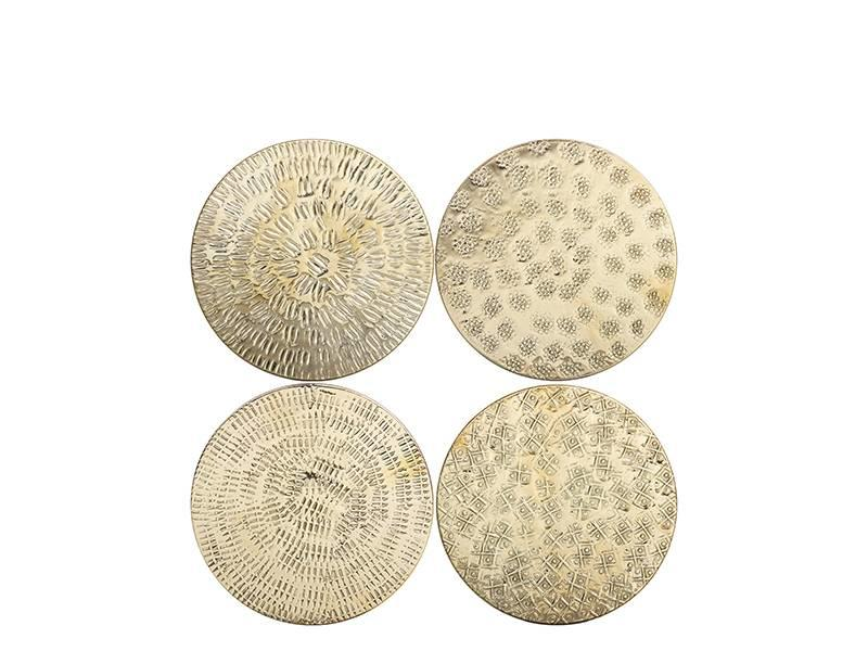 &Klevering Graphic Coasters Brass 4 pcs.