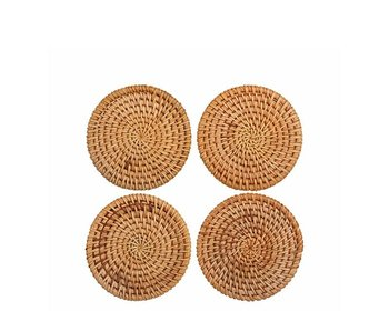 &Klevering Rattan Coasters 4 pcs.