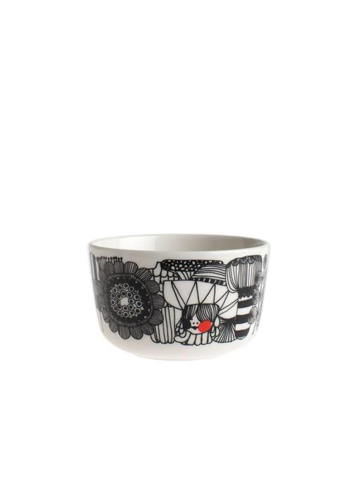 Marimekko IGC Oiva Siirtolapuutarha Bowl White/Black 2,5 dl