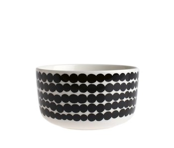 Marimekko IGC Oiva Siirtolapuutarha Bowl White/Black 5 dl