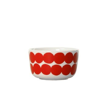 Marimekko IGC Oiva Rasymatto Bowl White/Red 2,5 dl