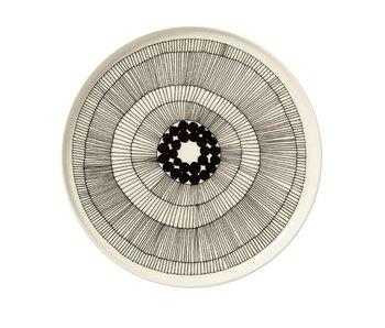 Marimekko IGC Oiva Siirtolapuutarha Plate White/Black 25 cm