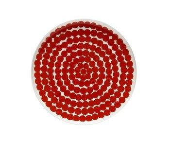 Marimekko IGC Oiva Siirtolapuutarha Plate White/Red 20 cm