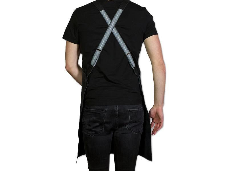 Dutchdeluxes Suspender Apron Leather Black