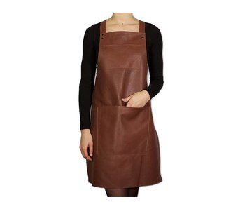 Dutchdeluxes Suspender Apron Leather Classic Brown