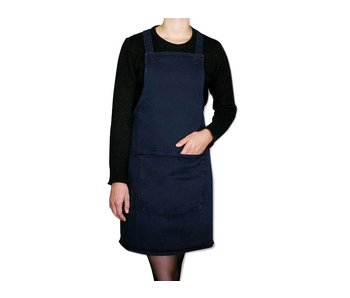 Dutchdeluxes Suspender Apron Canvas Dark Blue