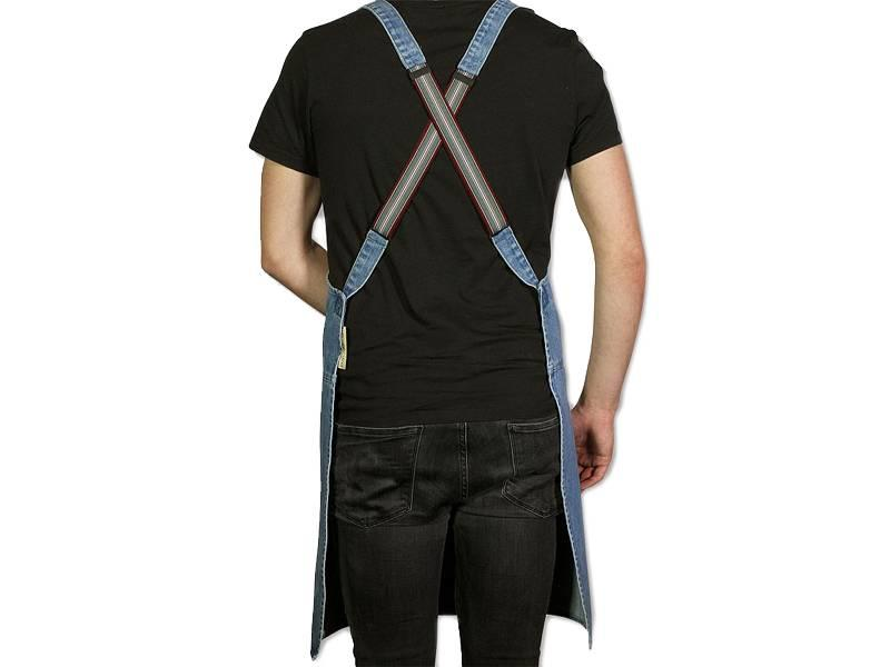 Dutchdeluxes Suspender Apron Denim Blue