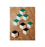 Areaware Table Tiles Green/Grey 6 pcs.