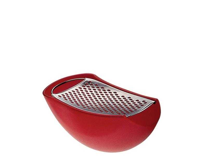 Alessi Parmenide Grater w. Cheese Cellar Red