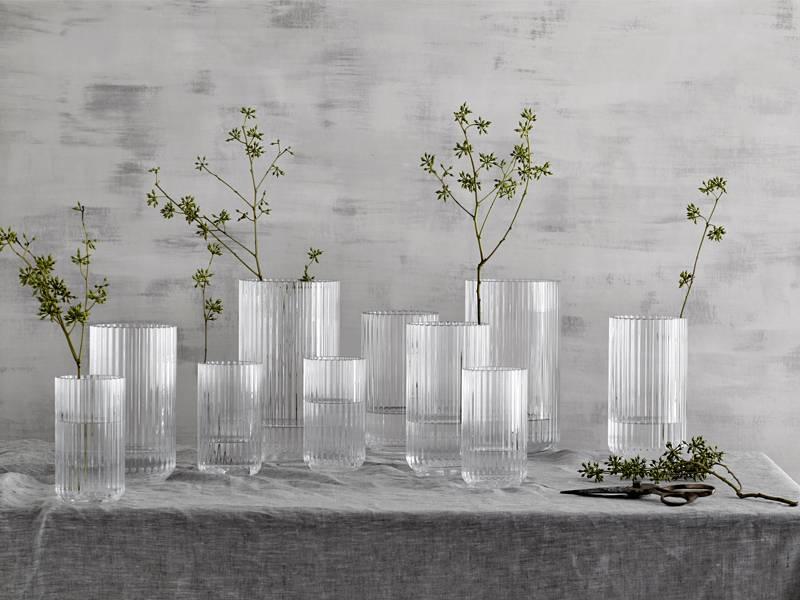 Lyngby Porcelaen Vase Clear 25 cm